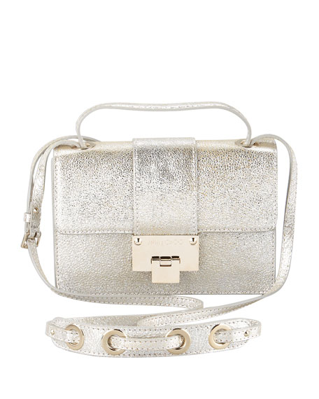 Rebel Metallic Flap Crossbody Bag