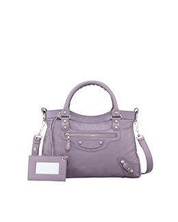 Balenciaga Giant 12 Nickel Town Bag, Glycine