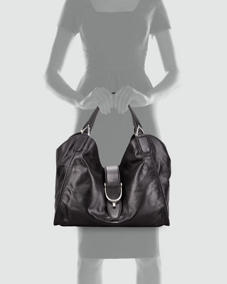 Soft Stirrup Shoulder Bag, Medium