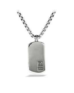 David Yurman Chevron Tag on Chain