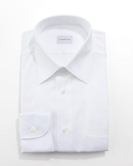 Twill Dress Shirt, White