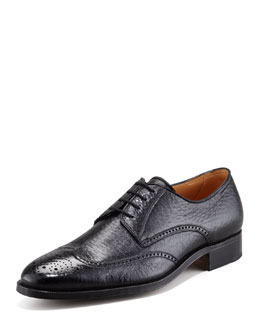Gravati Peccary Wing-Tip Lace-Up