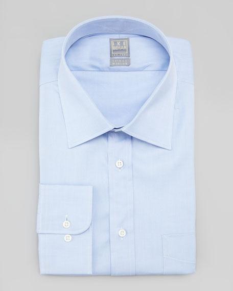 Solid Basic-Fit Dress Shirt, Light Blue