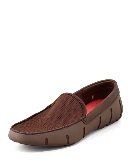 Rubber/Mesh Loafer, Brown