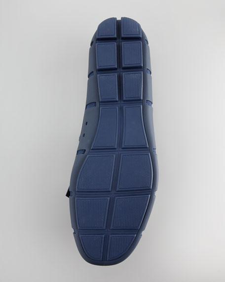 Rubber Kiltie Loafer, Shadow Blue