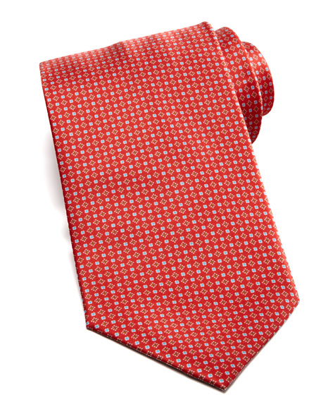 Micro-Pattern Silk Tie