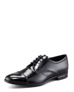 Prada Cap-Toe Lace-Up Derby