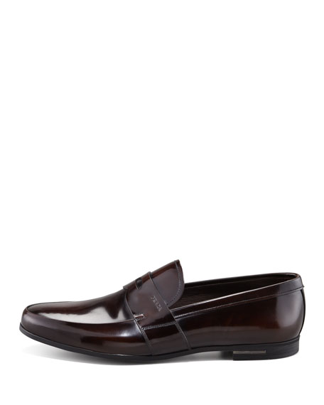 Spazzolato Penny Loafer, Dark Brown