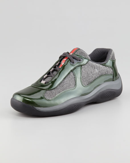 America's Cup Sneaker, Green/Gray