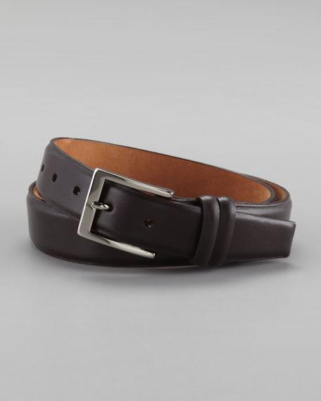 Napa Leather Belt, Dark Brown