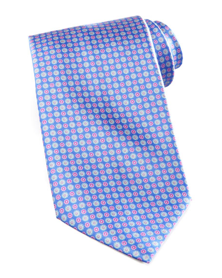 Circle Flower Tie, Blue