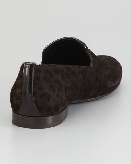 Sloane Leopard-Print Suede Slipper