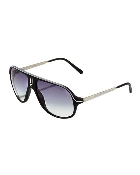 Safari R Sunglasses, Black/White