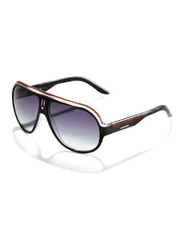 Carrera Speedway Keelf Navigator Sunglasses, Black/Orange