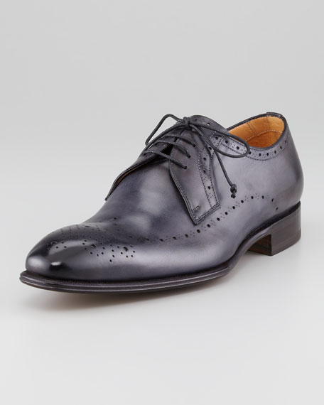 Perforated Leather Wing-Tip