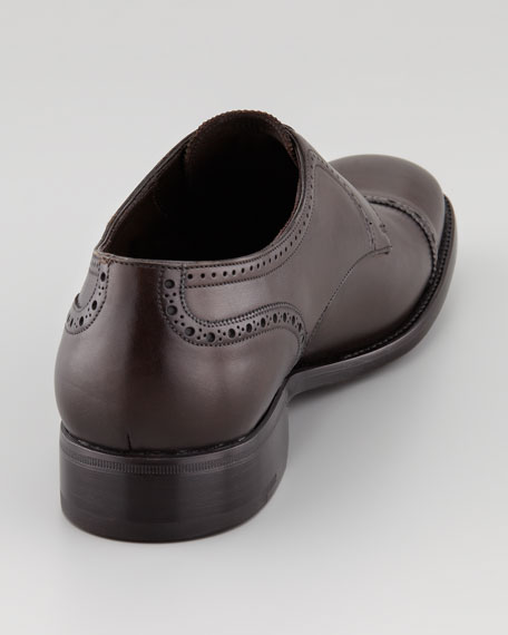 Couture Lace-Up Derby, Dark Brown