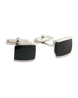 David Donahue Black Agate Cuff Links