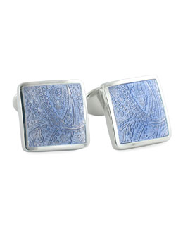 David Donahue Paisley Cuff Links