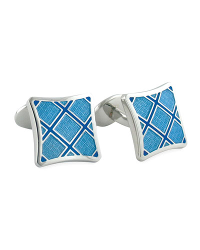 David Donahue Plaid Cuff Links