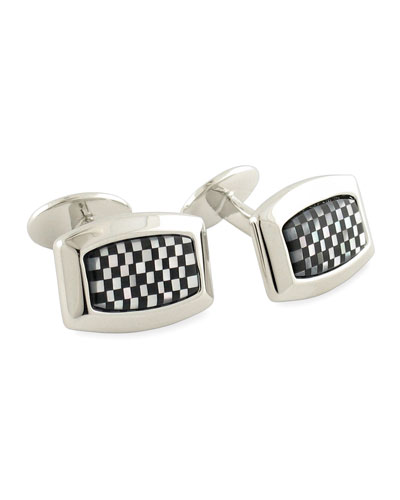 David Donahue Checkerboard Cuff Links