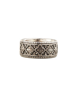 Konstantino Carved Sterling Silver Band Ring, Size 10