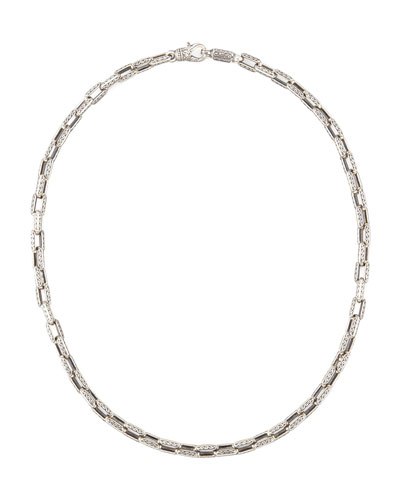 KONSTANTINO Sterling Silver Square-Link Chain Necklace