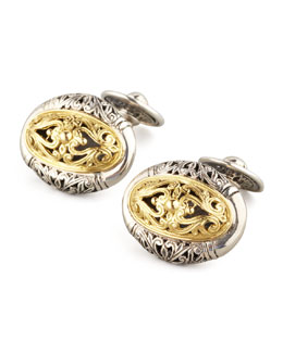 Konstantino Mixed Metal Oval Cuff Links