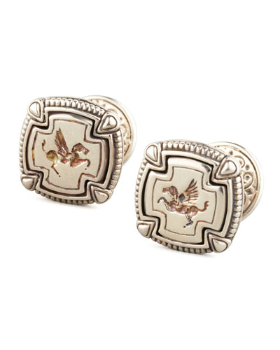 KONSTANTINO Pegasus Carved Silver Cuff Links