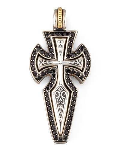 KONSTANTINO Pave Spinel Sterling Silver Cross Pendant