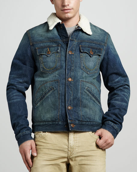 Daltry Sherpa-Lined Denim Jacket