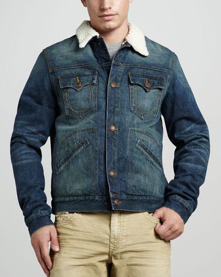 Daltry Sherpa-Lined Denim Jacket