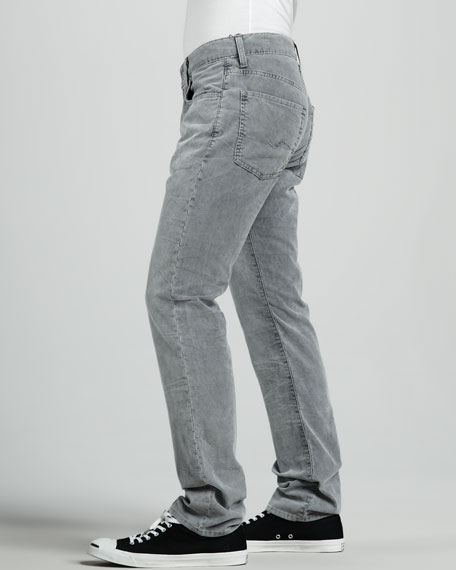 The Straight Steel Gray Stretch Corduroy Pants