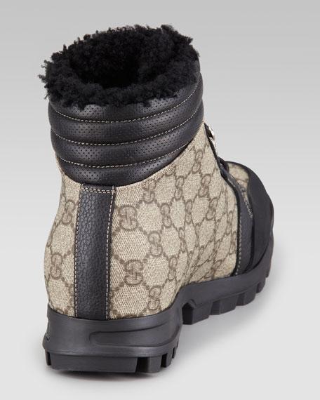 Nebraska Fur-Lined Boot, Beige