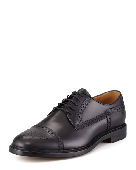 Gucci Cezanne Lace-Up Derby, Black