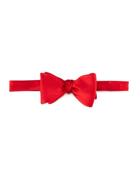 Pre-Tied Satin Bow Tie