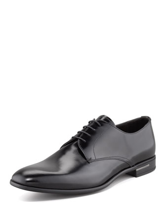 Sale alerts for Prada Leather Lace-Up, Black - Covvet