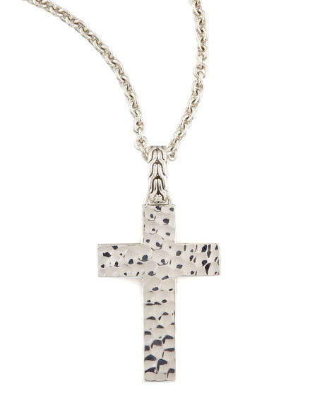 Palu Silver Cross Necklace