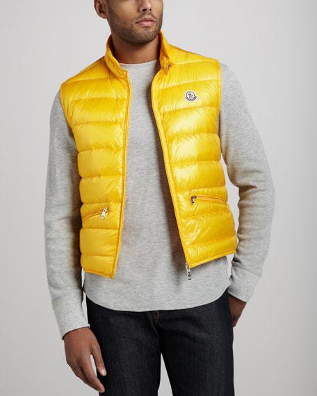 yellow moncler vest