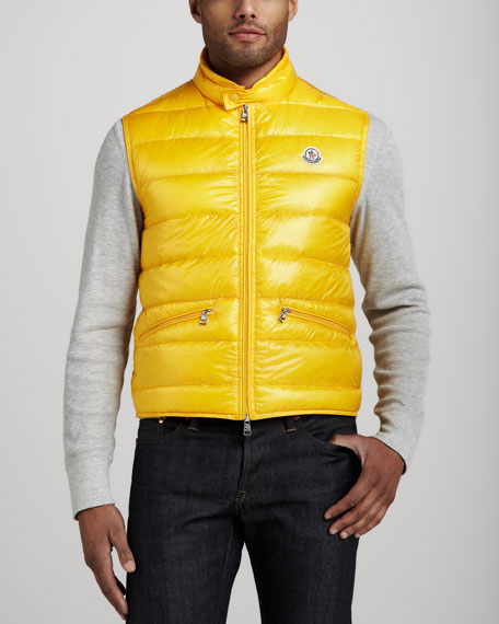 Gui Puffer Vest, Yellow