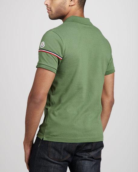 Flag-Sleeve Polo, Green
