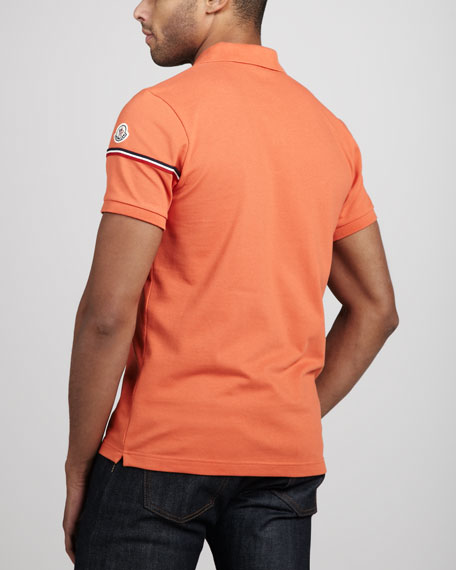 Flag-Sleeve Polo, Orange