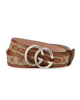 Gucci Logo Canvas Belt