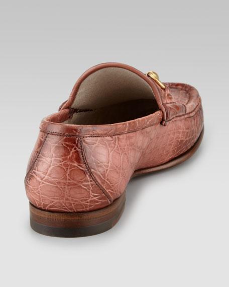 Crocodile Horsebit Loafer