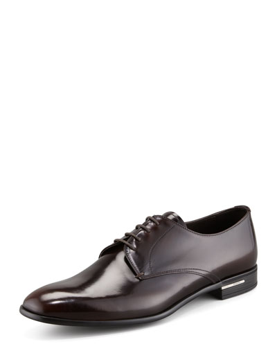 Prada Plain-Toe Rubber-Sole Shoe