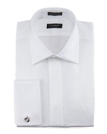 Oxford Fly-Front Tuxedo Shirt