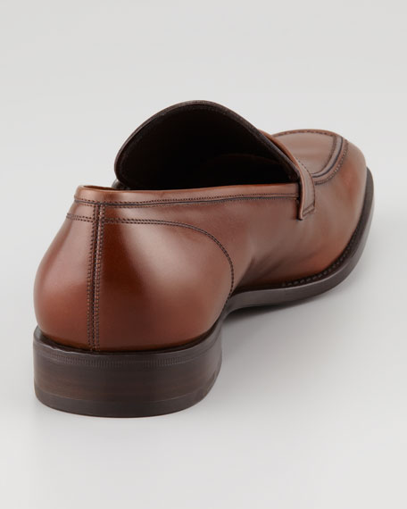 Teo Side-Ornamented Loafer, Almond