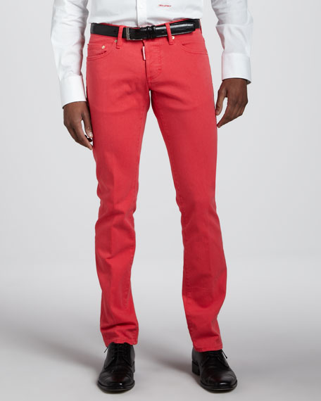 Slim Coral Jeans