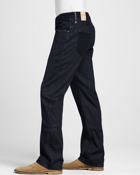 Mayen Flannel-Pocket Dark Jeans