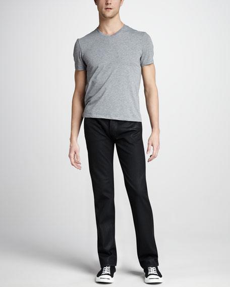 Standard Chevron-Print Jeans