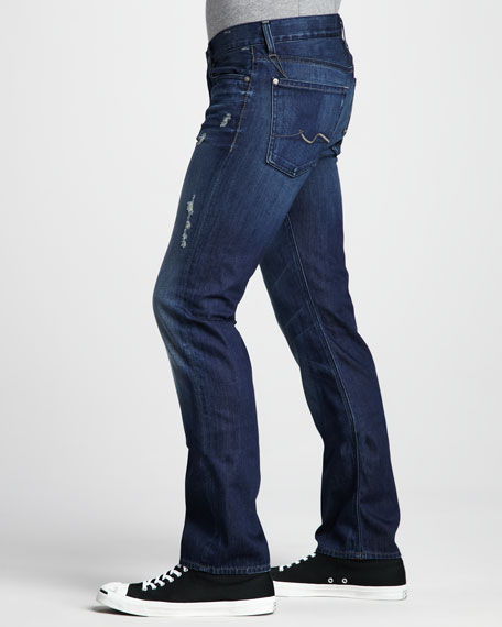 Slimmy Deep Blue Distressed Jeans